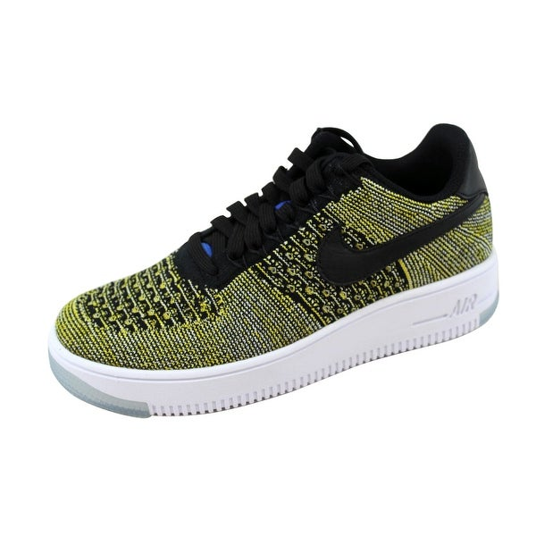 Nike Women's Air Force I 1 Flyknit Low Black/Black-Blue Tint-Game Royal Warriors 820256-004