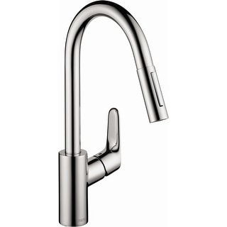 Hansgrohe 04505  Focus Pull-Down Kitchen Faucet with High-Arc Spout, Magnetic Docking & Toggle Spray Diverter