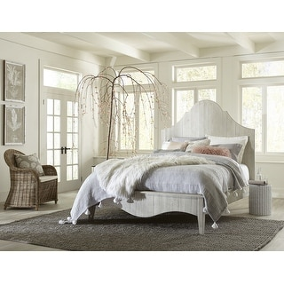 Link to Ella Solid Wood Scroll Bed in White Wash Similar Items in Bedroom Furniture