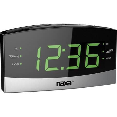 Naxa nrc-181 bt alarm clock w usb chrgr prt