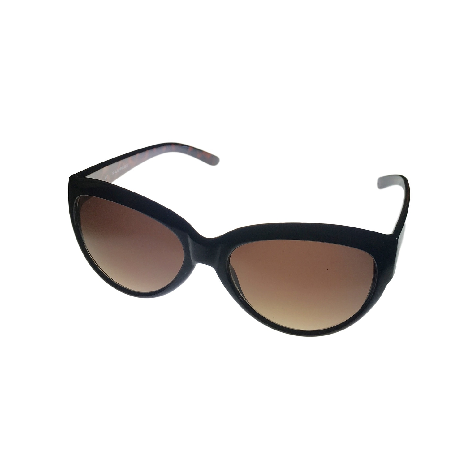 Rampage Womens Sunglass Black Modified Cat, Smoke Gradient Lens RS 1009 - Medium - Thumbnail 0