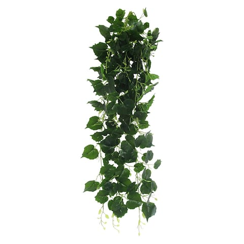 "Cottonwood Ivy Leaf Hanging Greenery Bush UV Resistant Indoor Outdoor 49in - 49"" L x 15"" W x 9"" DP"
