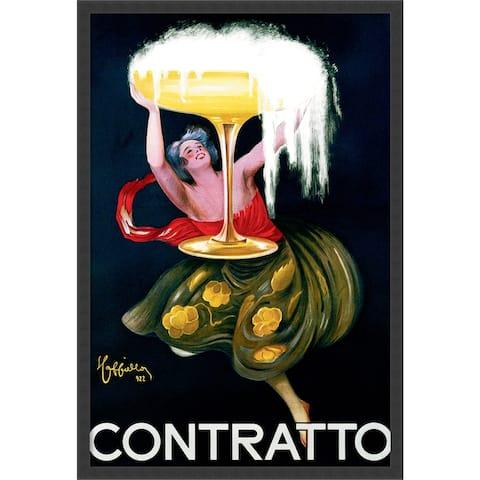 Framed Art Print Contratto (ca.1922) by Leonetto Cappiello 26 x 38-inch