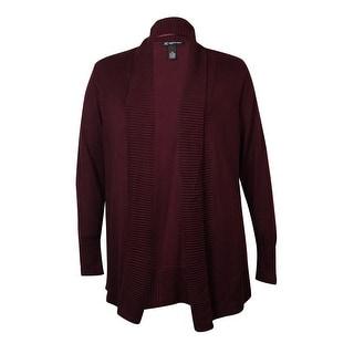 INC Women's Shawl Collar Ribbed Trim Cardigan Sweater