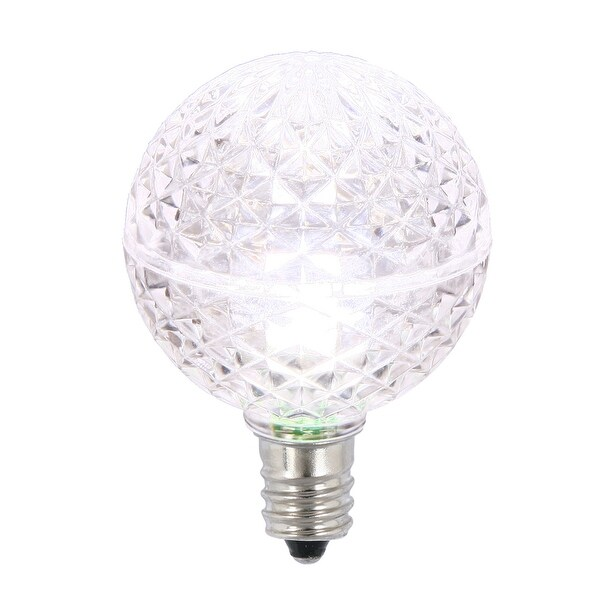 G40 Faceted LED Purewht Bulb E12 .38W