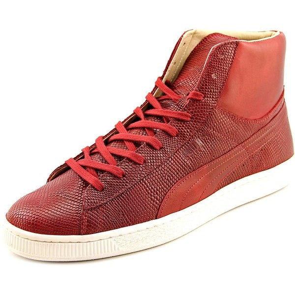 Puma States Mid MII Men Round Toe Leather Red Sneakers