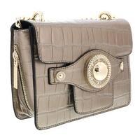c6a6af3c97 Shop Versace EE1VRBBC6 Gold Top Handle Bag - 9-7.5-4.5 - Free ...