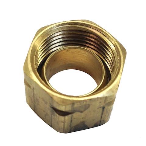 Uflex 3/8 brass compression nut w/ furrule #61ca-6