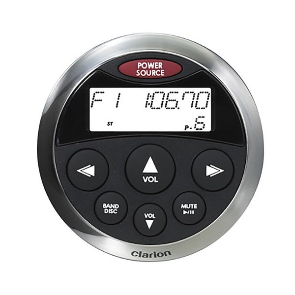 Clarion CMRC1BSS Watertight Wired Remote w/Display