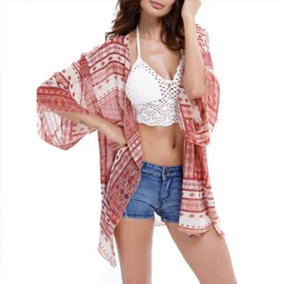 Dolman Sleeve Sheer Cover-up