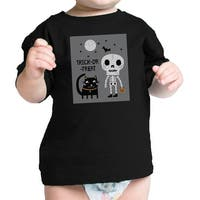Skeleton Black Cat Infant Graphic T-shirt Baby Halloween Costume