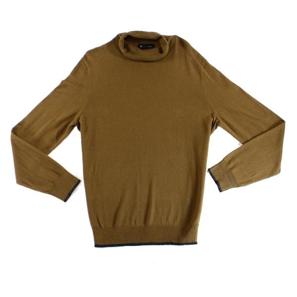 Shop Inc New Brown Mens Size Large L Knit Long Sleeve Turtleneck