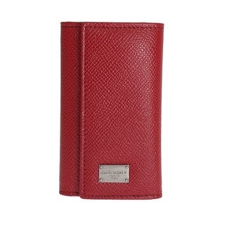 Dolce & Gabbana Dolce & Gabbana Red Leather Key Case Wallet - One size