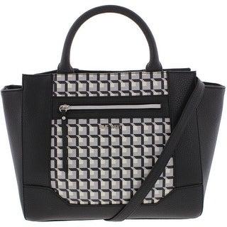 Nine West Womens Gleam Team Crossbody Handbag Faux Leather Printed - MEDIUM