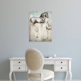 Easy Art Prints Leonardo da Vinci's 'Study of horses' Premium Canvas Art