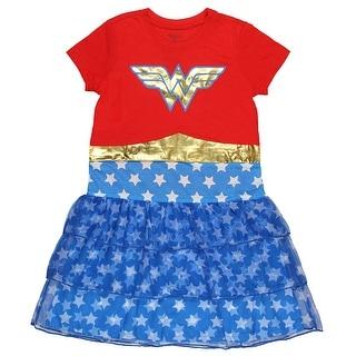 DC Comics Wonder Woman Girls' Costume 3 Tier Nightgown (X-Small)