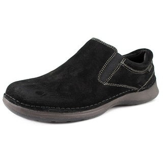 Hush Puppies Lunar II Men W Round Toe Suede Black Loafer