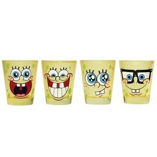 Nickelodeon Spongebob Squarepants 4-Piece Colored Shot Glass Set