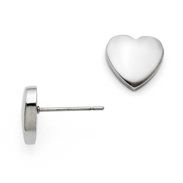 Chisel Stainless Steel Small Heart Post Earrings
