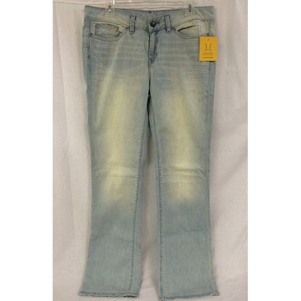 Yummie Tummie Slimming Mid Rise Straight Leg Denim, Sun Bleached, 25. Opens flyout.