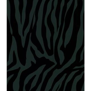 Brewster 405-46963 Congo Black Zebra Wallpaper