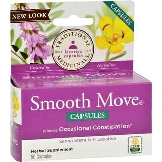 Traditional Medicinals Smooth Move SENNA - 50 Capsules