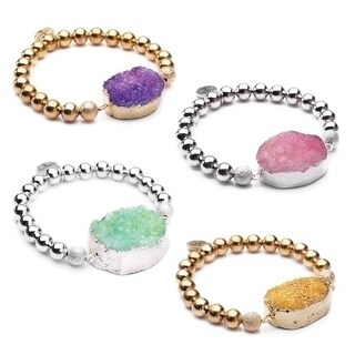 36 Club Pack of Assorted Alexa's Angels Druzy Bracelets 7""