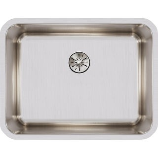 "Elkay ELUH211510PD  Lustertone 23-1/2"" Single Basin Undermount Stainless Steel Kitchen Sink - Stainless Steel"