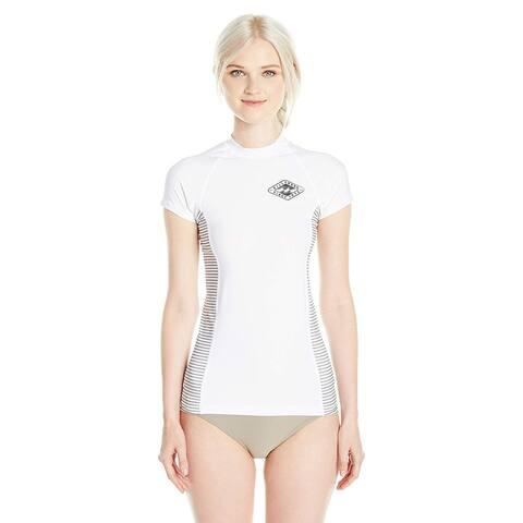 Billabong Women's Surf DayZ Performance Fit Short, White Colorblock, Size Small
