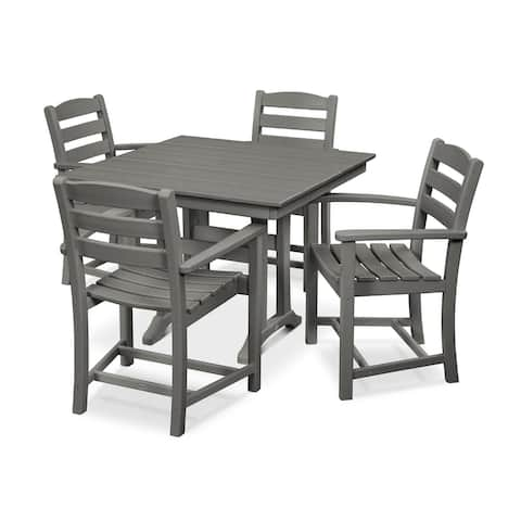 POLYWOOD La Casa Caf 5-Piece Farmhouse Arm Chair Dining Set