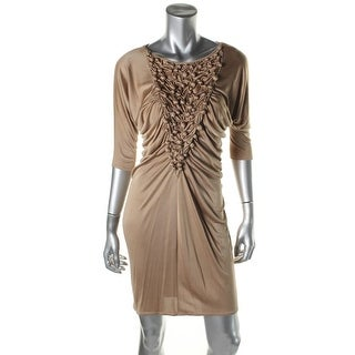 Catherine Malandrino Womens Silk Blend Ruched Party Dress - S