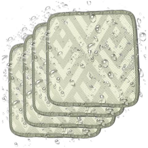 Kasentex Indoor / Outdoor Non-Slip Seat Cushion - Set of 4