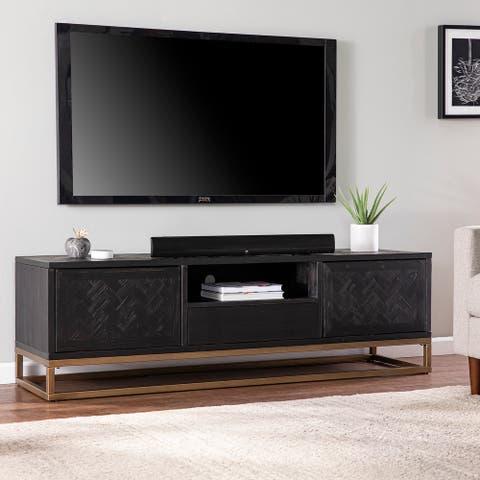 Carbon Loft Delgany Contemporary Black TV/Media Stand