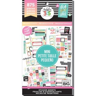 Create 365 Happy Planner Sticker Value Pack-Mini Productivity