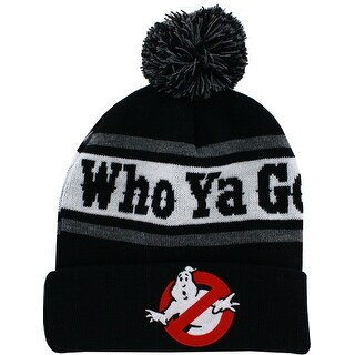 Ghostbusters Who Ya Gonna Call Men's Cuffed Knit Hat