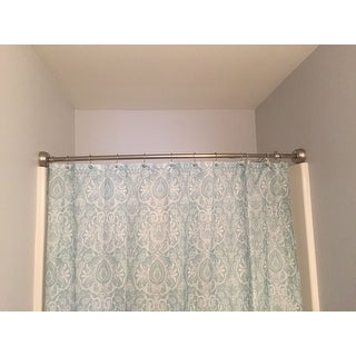 Maytex Smart Curved No Drill Plus Shower Curtain Tension Rod