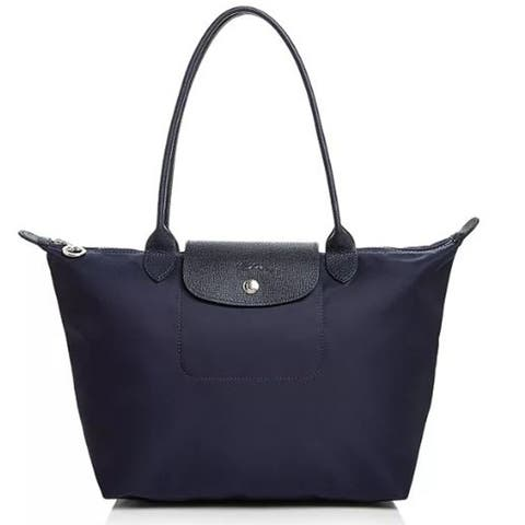 LongChamp Womens Marine Navy Blue Neo Medium Tote Handbag