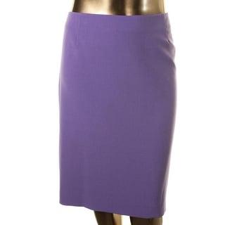 Kasper Womens Plus Solid Knee-Length Pencil Skirt