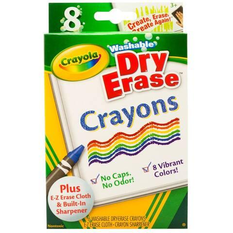 Crayola crayola dry erase crayons 8 count 985200
