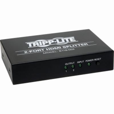 Tripp Lite 2-Port Hdmi Splitter, 1 In 2 Out, Video & Audio, 1080P @ 60Hz (B118-002)