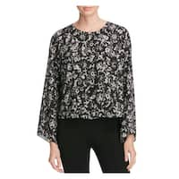 Vince Camuto Womens Blouse Printed Bell Sleeves