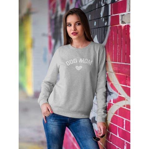 Dog Mom Love Women's Sweatshirt - Sport Grey