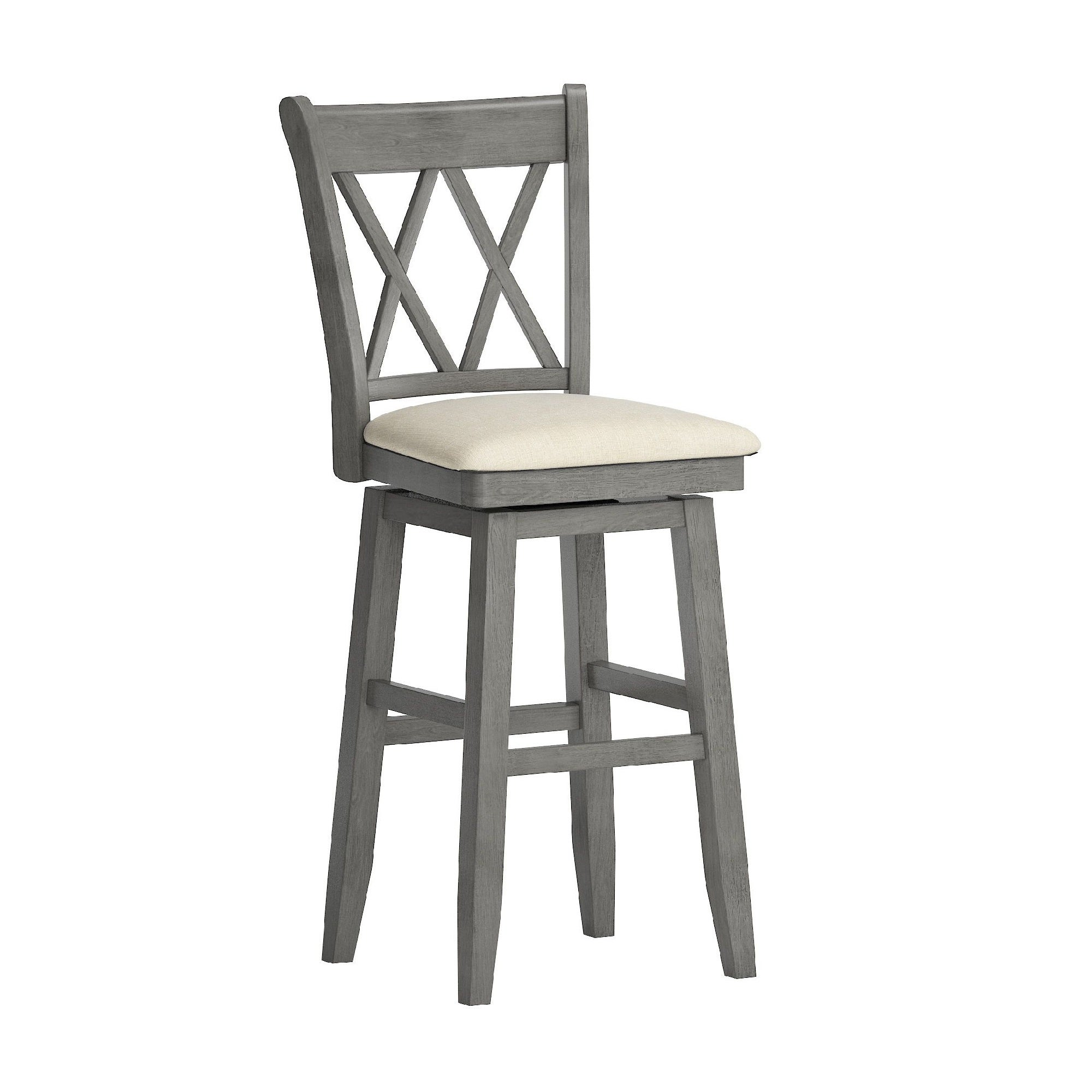 Picture of: Eleanor Double X Back Wood Swivel Bar Stool By Inspire Q Classic On Sale Overstock 20457171