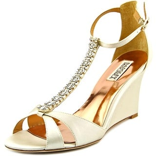 Badgley Mischka Romance Women Open Toe Canvas Wedge Heel