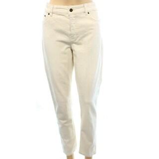 Lauren Ralph Lauren Ivory Denim NEW Women's Size 8 Slim Skinny Jeans