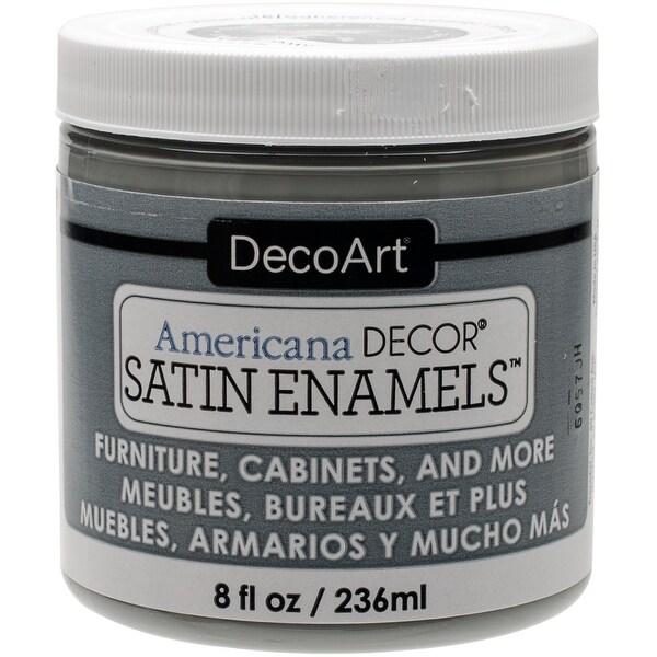 Americana Decor Satin Enamels 8oz-Smoke Grey