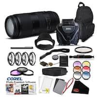 Tamron 100-400mm f/4.5-6.3 Di VC USD Lens for Canon EF Pro Accessory Kit - black