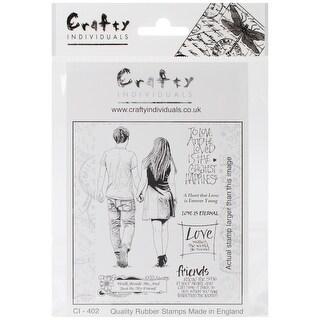 "Crafty Individuals Unmounted Rubber Stamp 4.75""X7"" Pkg-Just"