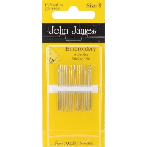 Embroidery Hand Needles-Size 8 16/Pkg