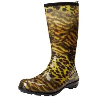 Kamik Womens Wildwood Animal Print Mid-Calf Rain Boots